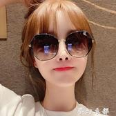 新款墨鏡女韓版潮大框防紫外線偏光ins太陽眼鏡圓臉大臉顯瘦 雙十二全館免運