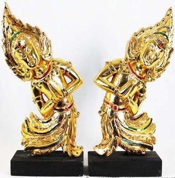 泰國木雕 人物擺件/對-M1125