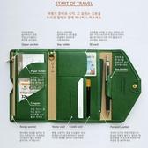 韓版旅行三折護照包機票證件夾錢夾簡約卡包證件收納包【聚寶屋】