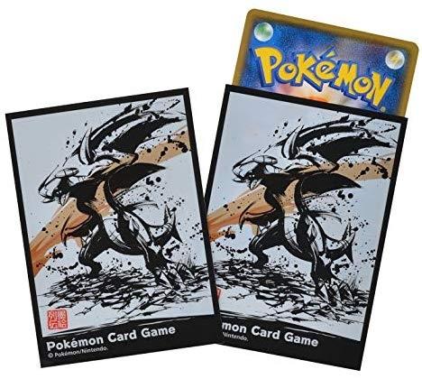 日版 Pokemon 烈咬陸鯊 限定水墨卡套 PTCG 64枚 牌套 桌遊 皮卡丘 精靈寶可夢 卡牌【小福部屋】