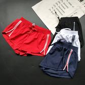運動短褲女 防走光!戶外運動短褲女側拉鏈含內襯排汗透氣瑜伽跑步跳操健身褲