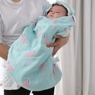 防踢被 純棉紗布嬰兒睡袋春夏薄款新生兒寶寶防驚跳抱被兒童四季防踢被完美