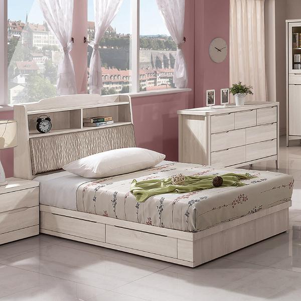 床組 3.5 尺床頭+抽屜式床底 瑪奇朵 409-6w 愛莎家居