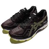 Asics 慢跑鞋 Gel-Kayano 23 Lite-Show 反光 紫紅 黑 螢光黃 男鞋 夜跑專用 【ACS】 T6A1N2590