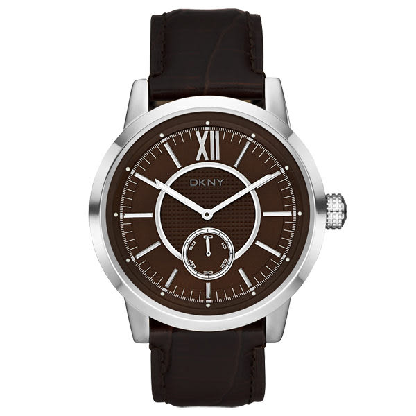 DKNY 摩登紐約時尚都會腕錶(咖啡)