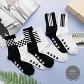 韓國襪子 賽車風中筒襪(男)【K0625】