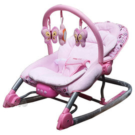 Mother's Love 嬰兒震動安撫搖椅/粉BR210 贈 可愛動物布書(隨機)