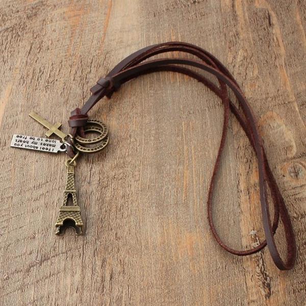 埃爾菲鐵塔時尚項鏈學生氣質配飾品掛件情侶簡約長款