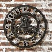 創意時鐘-工業風齒輪個性復古藝術掛鐘72z9[時尚巴黎]