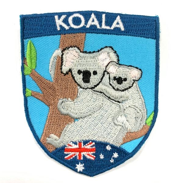 澳洲 無尾熊 KOALA PATCH電繡士氣章 貼章 補丁貼 燙布貼 徽章