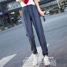 天絲牛仔褲女夏季薄款高腰大碼胖mm200斤顯瘦老爹垂感冰絲女褲子 依凡卡時尚