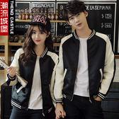 情侶裝秋裝新品韓版緞面棒球服原宿風外套男女學生裝班服潮