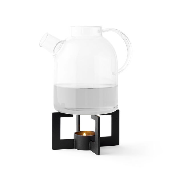 丹麥 Menu Cast Tea Heater 凱斯系列 黑色金屬 茶壺 保溫底座
