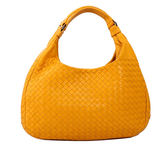 【BV/ BOTTEGA VENETA】雙肩帶編織小羊皮肩背包(太陽黃)BV11000056