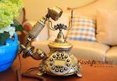 歐式家居別墅復古電話座機實用裝飾品擺件 LK1583『伊人雅舍』