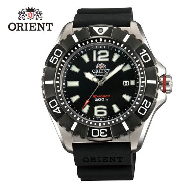 ORIENT 東方錶 M-FORCE系列 鈦金屬200m潛水機械錶 膠帶款 SDV01003B 黑色 - 47mm