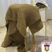 北歐午睡沙發毯流蘇針織毯子毛線毛巾蓋毯休閒毛毯被子【 叮噹百貨】