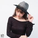 爵士帽 鉚釘裝飾毛料雙色紳士帽/SH