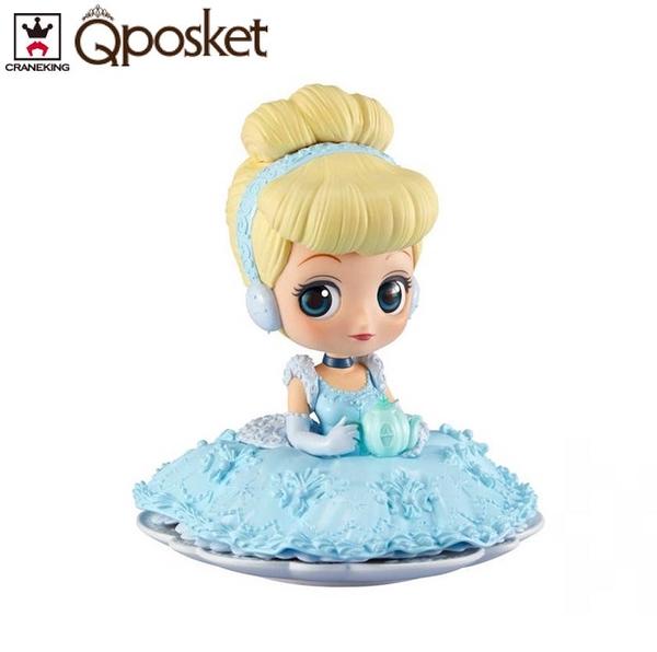 日本限定 Qposket 迪士尼公主 仙杜瑞拉 SUGIRLY版 模型公仔 (蠟筆色)