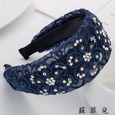 韓版發飾發卡防滑蕾絲發箍