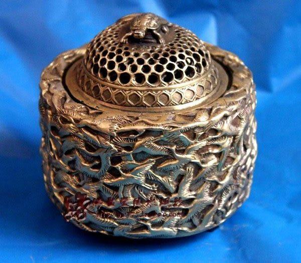 工藝品擺件 開光銅香爐