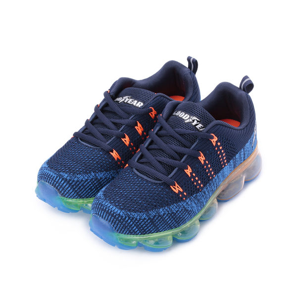 GOODYEAR 編織全氣墊運動鞋 藍 GAKR81016 大童鞋 鞋全家福