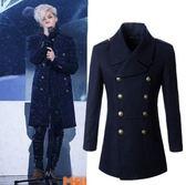 BIGBANG GD 權志龍 崔勝賢同款羊毛呢風衣外套型男修身呢子大衣 1比1 訂製