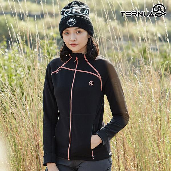【西班牙TERNUA】女Power Stretch Pro立領保暖外套 1643248 AF / 城市綠洲 (Polartec、刷毛、透氣、快乾)