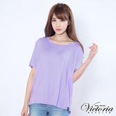 Victoria 異材質拼接上衣-女-粉紫-V8527715