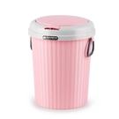 家用客廳廚房衛生間彈蓋垃圾桶創意歐式有蓋...