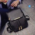【P080】shiny藍格子-潮流時尚-學院風雙肩學生牙簽紋後背包