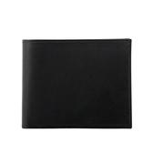 【HERMES】素面皮革8卡短夾(黑色) HE23000010