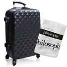 philosophy 肌膚哲理 享受旅行經典黑色行李箱送浴巾-白色【美麗購】