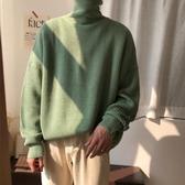 秋冬韓版保暖學生套頭高領男士毛線衣純色針織衫加厚毛衣chic外套