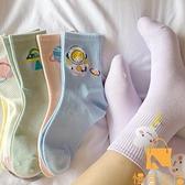 5雙 中筒襪純棉春秋可愛日系學生夏季薄款長筒襪【慢客生活】