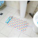 【YourShop】浴室底部吸盤止滑墊(彩色圓點) ~庫存品出清 邊緣偏黃~