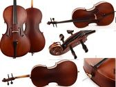 大提琴4/4 C01 啞光  Christina高檔大提琴 可考級【藍星居家】