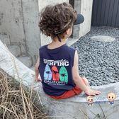 背心 兒童背心男棉質男童背心寶寶夏裝小童男寶寶無袖t恤夏季1-3歲薄款 2色