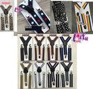 ★依芝鎂★k889吊帶兒童吊帶三夾2.5cm男女背帶吊帶褲帶夾短版的,售價100元