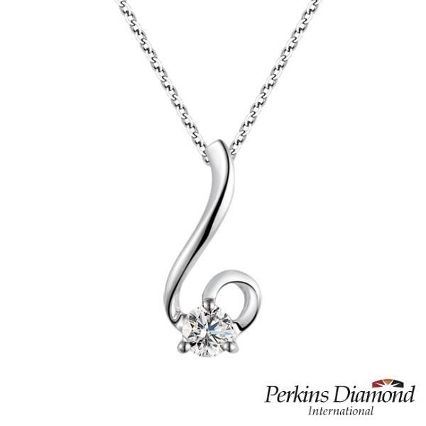 【南紡購物中心】PERKINS 伯金仕 Drop系列 鑽石項鍊