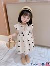 熱賣兒童洋裝 女童連身裙夏裝兒童裙子2021新款寶寶洋氣公主裙小童夏季短袖韓版 coco