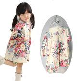 女童小童兒童雨衣時尚甜美花朵可愛學生大帽檐雨披防水服親子【小梨雜貨鋪】