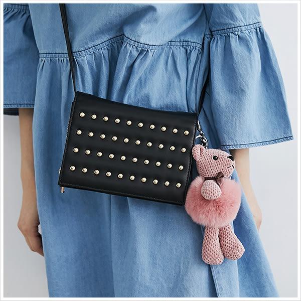 吊飾-可愛小熊絨毛球吊飾/鑰匙圈-共5色-A11110275-天藍小舖