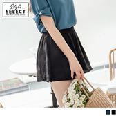 《KG0250-》玫瑰刺繡涼感不易皺素面褲裙 OB嚴選