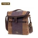 【TROOP】傳統簡約HERITAGE單肩包/TRP0393BN(棕色)