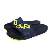 G.P (GOLD PIGEON) 阿亮代言 拖鞋 防水 雨天 深藍色 撞色 男鞋 G0566M-20 no277