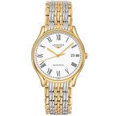 LONGINES 浪琴 Lyre 琴韻羅馬經典機械腕錶/手錶-白x雙色/38mm L49602117