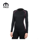 mico 女圓領美麗諾羊毛保暖上衣 IN3702 / 城市綠洲(登山、滑雪、運動、機能、排汗、快乾)