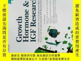 二手書博民逛書店Growth罕見Hormone & IGF Research 2017年10月生長激素與胰島素樣生長因子研究Y