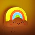 遙控聲光控彩虹小夜燈睡眠床頭燈臥室插電夜晚光控嬰兒喂奶燈夜燈 自由角落